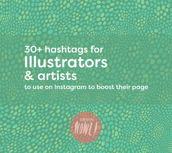 Illustrator hashtags instagram