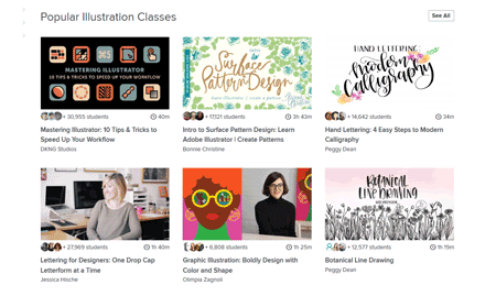 skillshare illustration courses