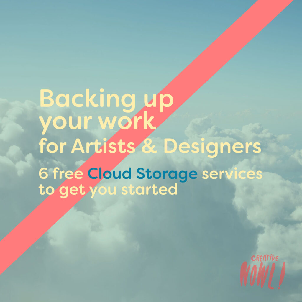 Backing up your work for Artists