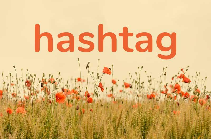 floral hashtag