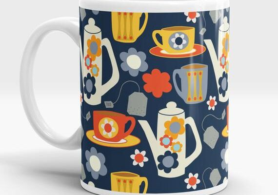 tea mug patterned