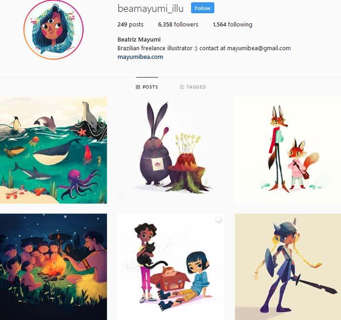 Beatriz Mayumi Instagram page