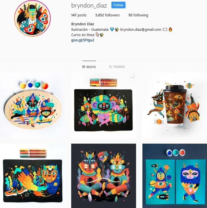 Bryndon Díaz Instagram page