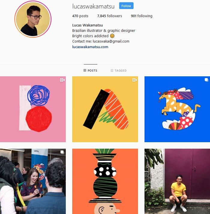 Lucas Wakamatsu Instagram page