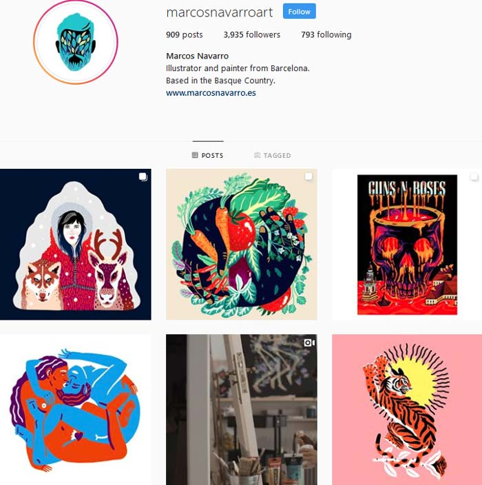 Marcos Navarro Instagram page