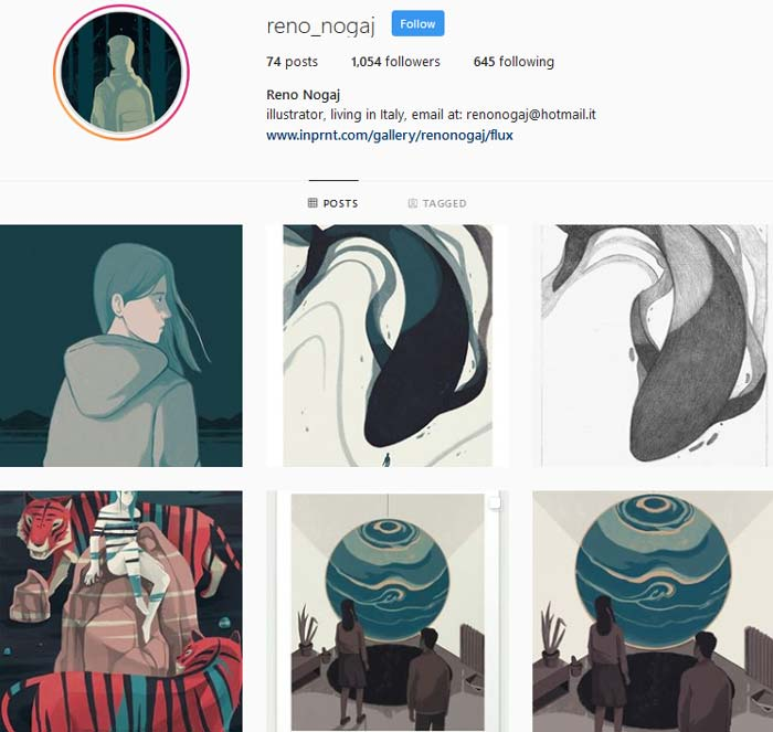 Reno Nogaj Instagram page