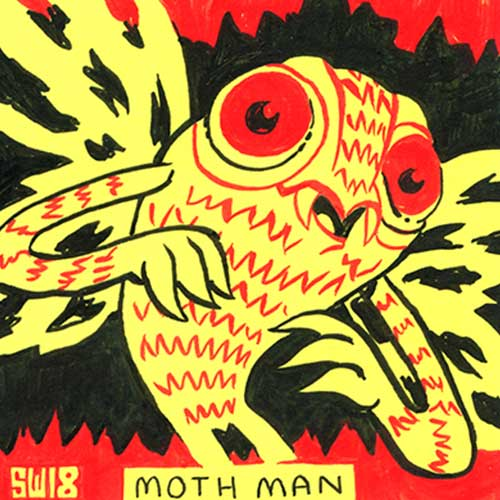 Post-It Show Monsters by Sam Washburn