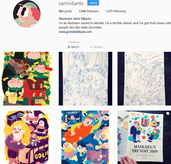 Sami Viljanto Instagram feed
