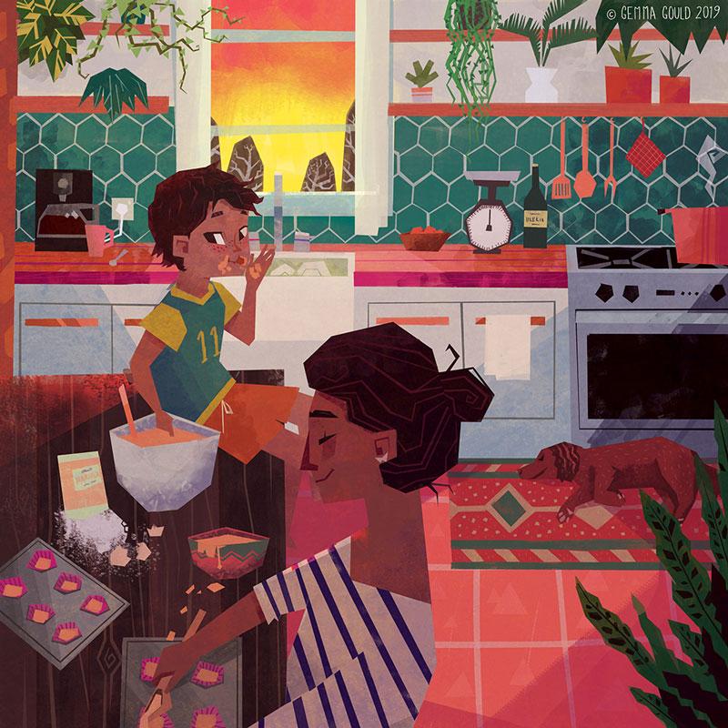 Sunset Baking by Gemma Gould