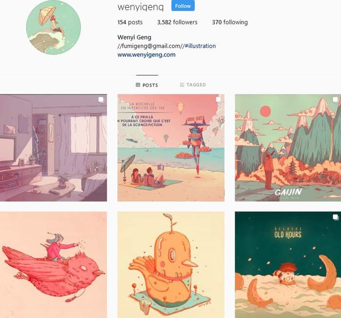 Wenyi Geng instagram