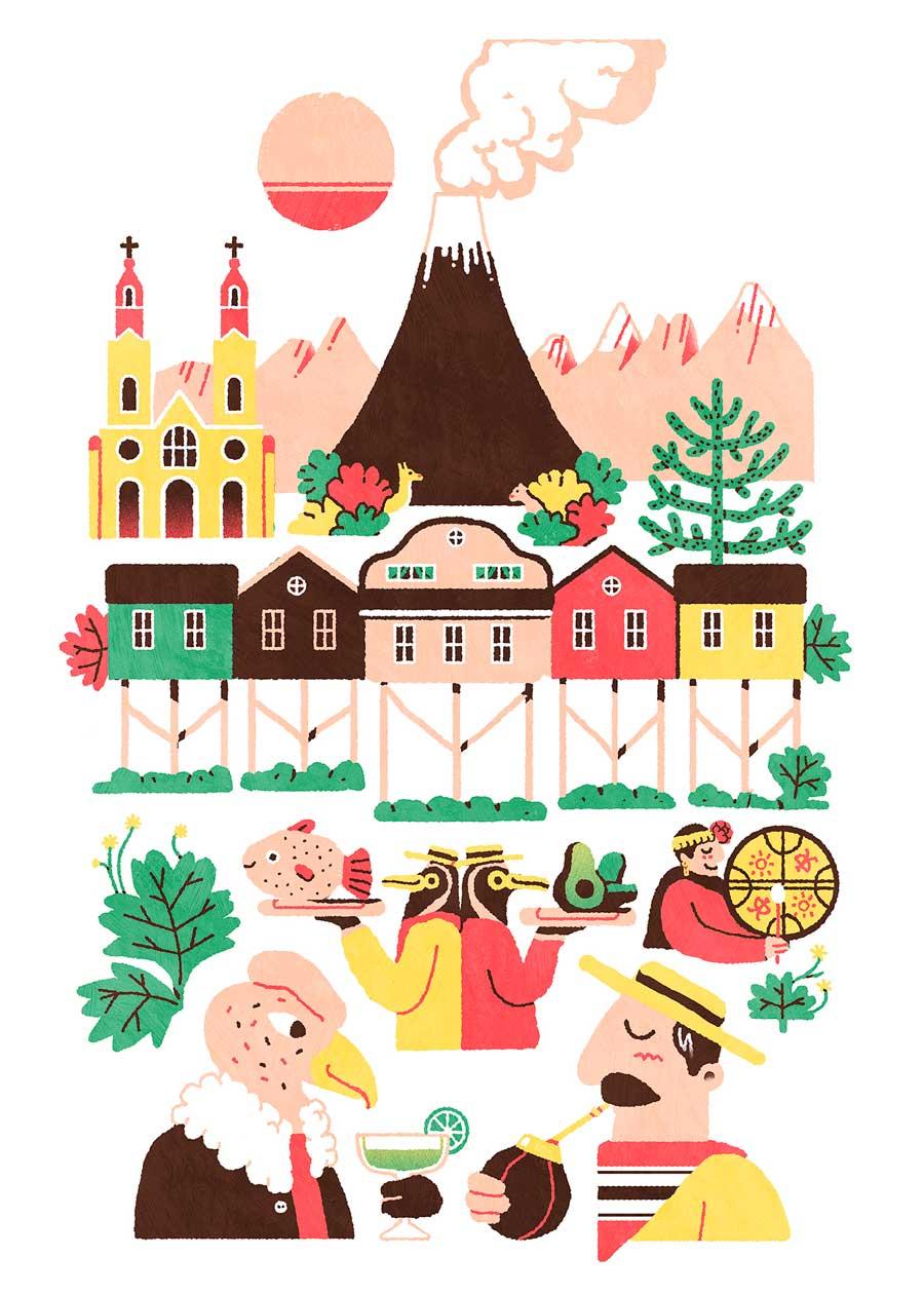 Amaël Isnard Chile illustration