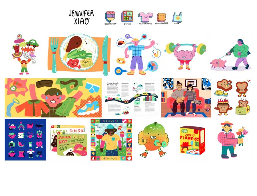Jennifer Xiao illustrations