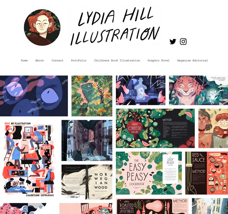 Lydia Hill illustration portfolio