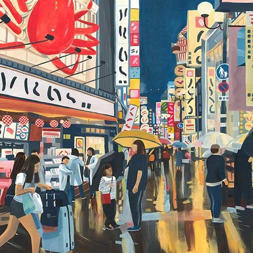 Osaka Dotonbori by Grace Helmer