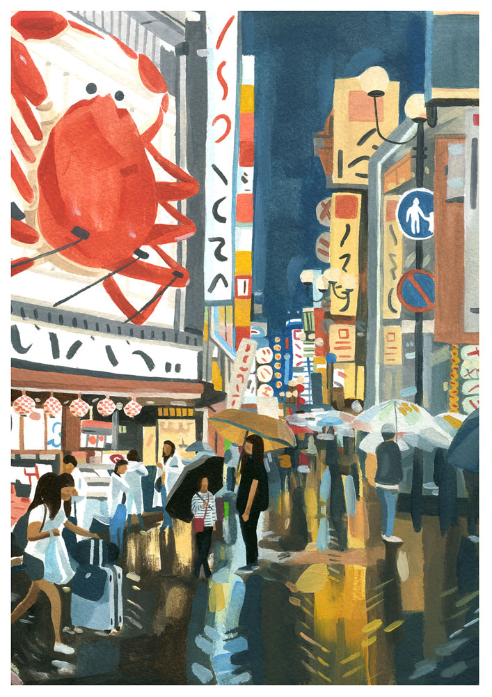 Osaka illustration