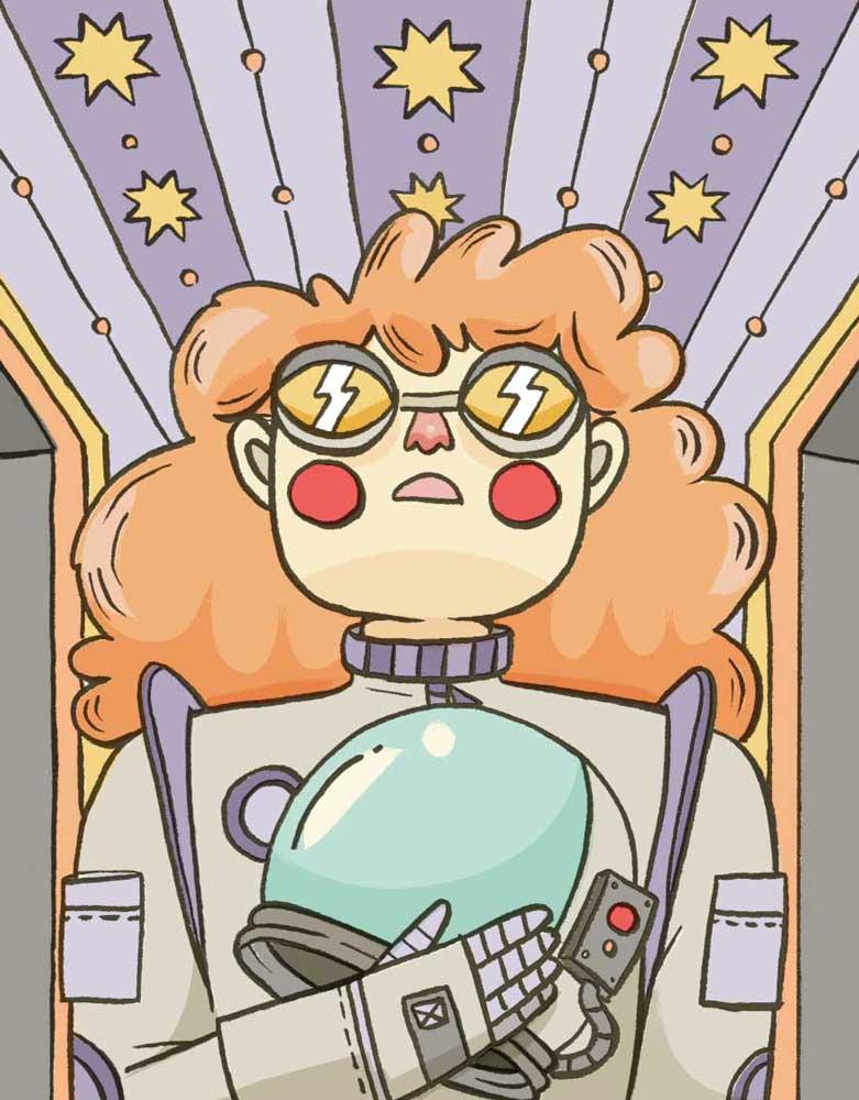 gilgamina spacewomen illustration by Bárbara Fonseca