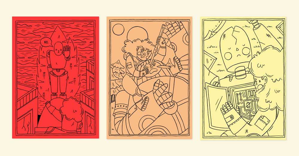 """""""Gilgamina"""" illustration series by Bárbara Fonseca"""