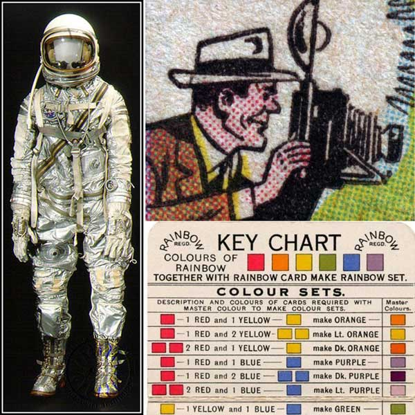 inpirational mood board with spaceman