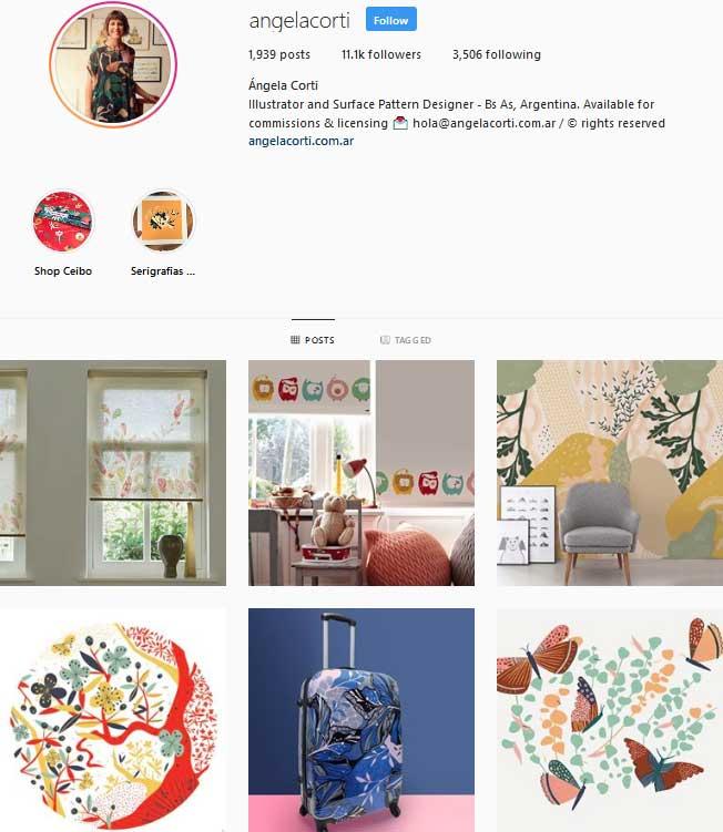 Ángela Corti Pattern designer Instagram