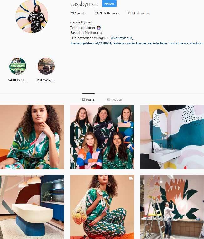 pattern designer cassie byrnes instagram