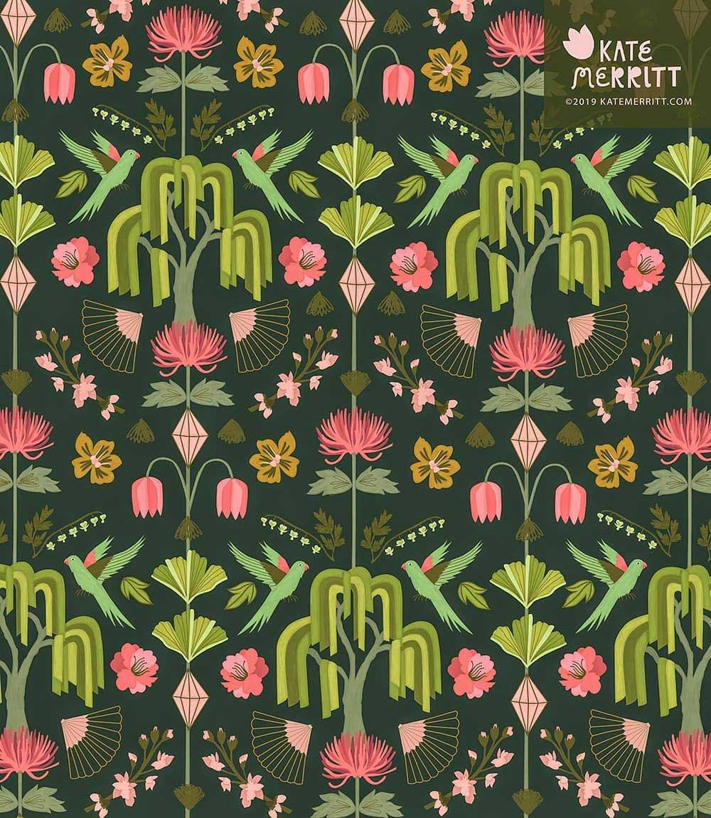kate merritt floral pattern design