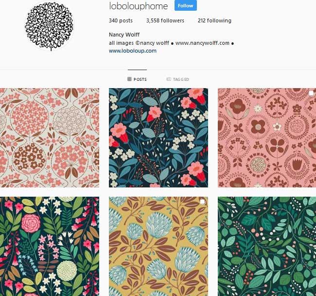 Pattern designer Nancy Wolff Instagram