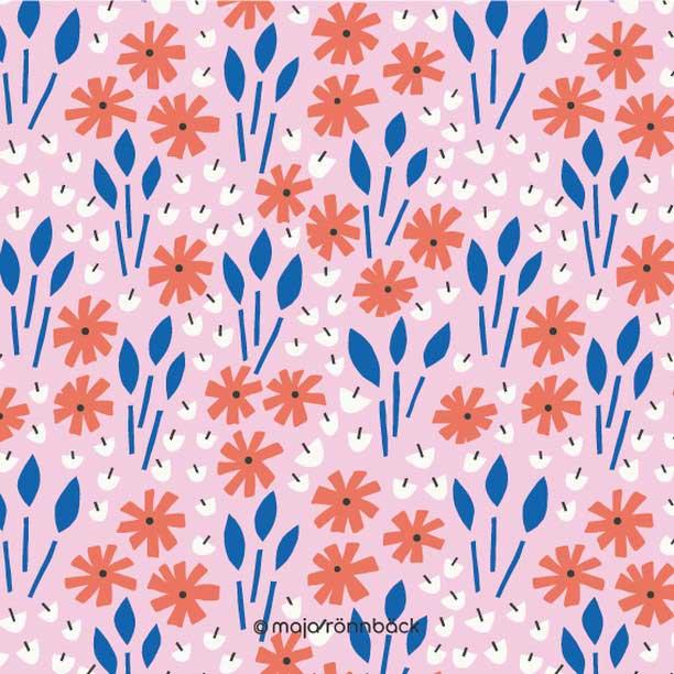 floral pattern design maja rönnback