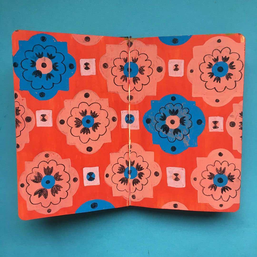 sketchbook pattern design