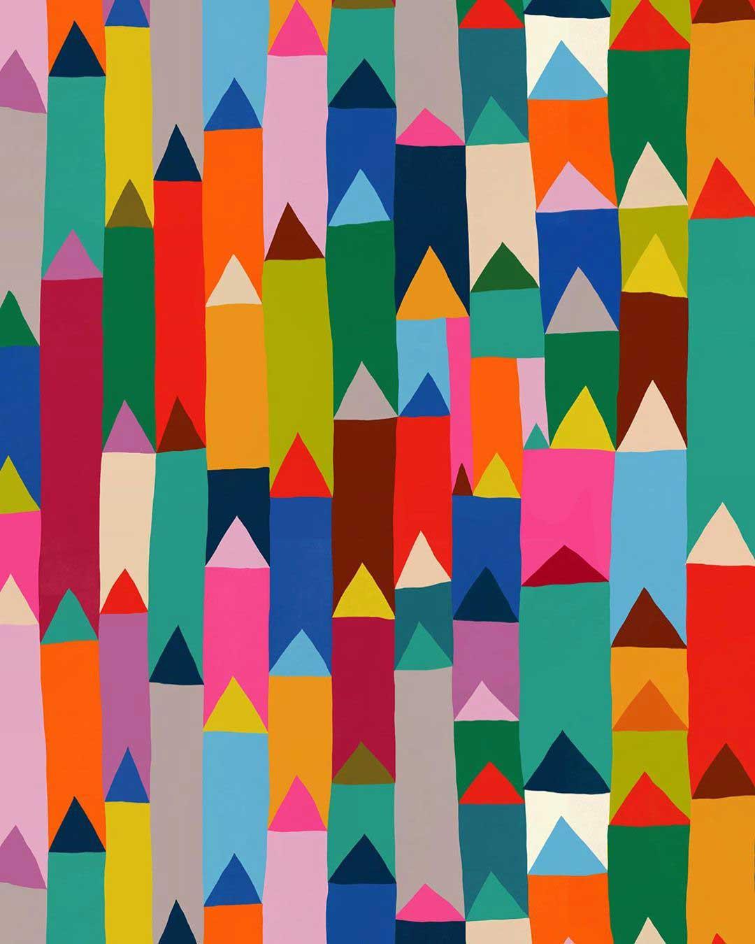 colorful pen pattern design