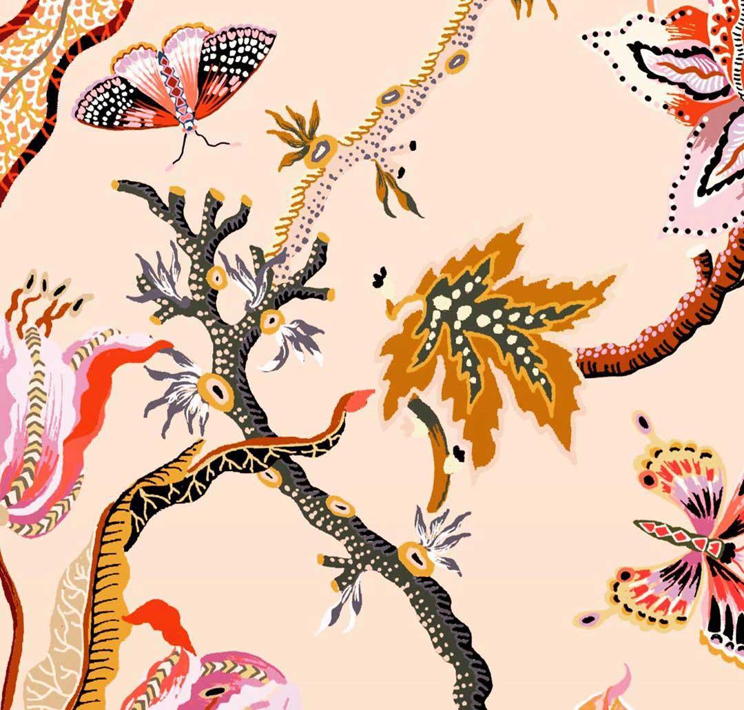 pattern design with butterflies