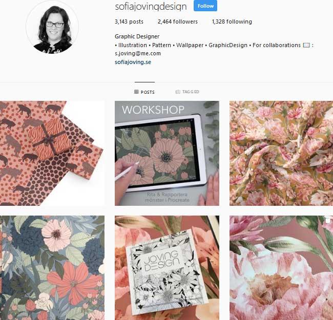 Sofia Joving Pattern Instagram