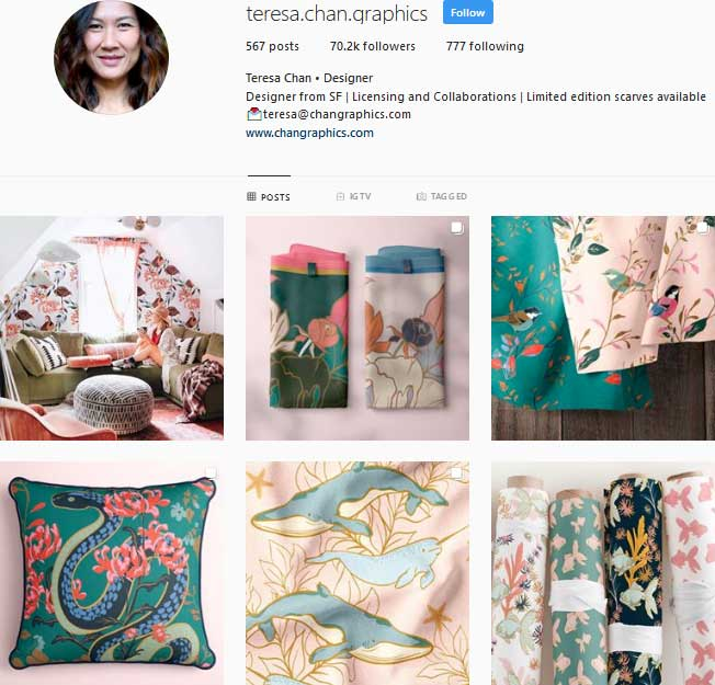 Teresa Chan pattern design Instagram