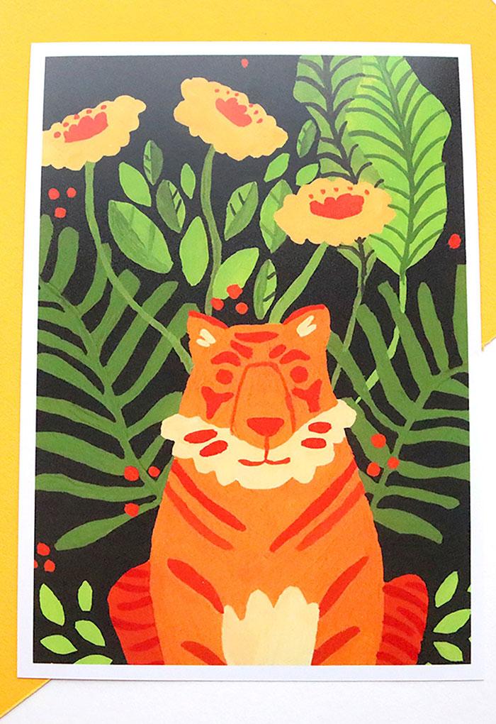 Eliott Bulpett tiger print