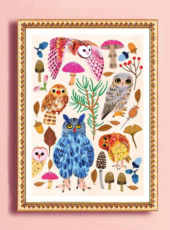 Emma Jayne owl print