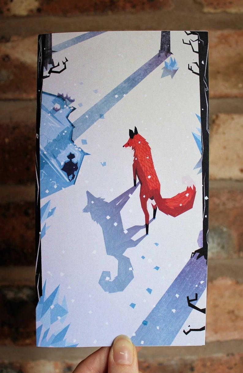 Gemma Gould fox snow print