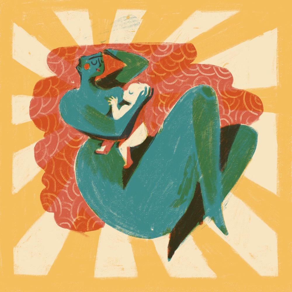 Illustration Breastfeeding