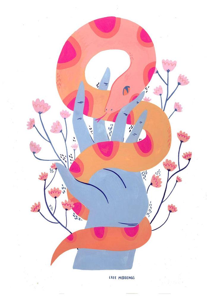 Lize Meddings snake print
