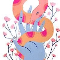 Lize Meddings snake hand thumbnail