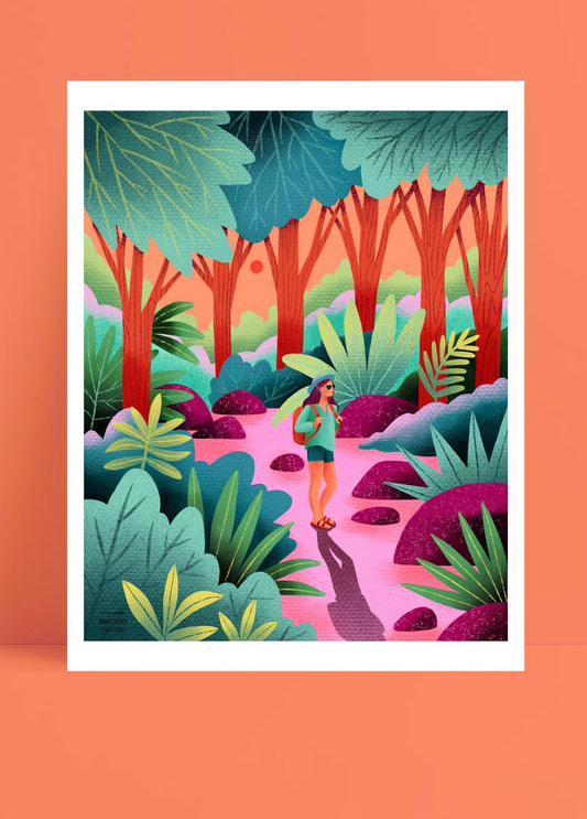 Marcy Day forest walk illustration