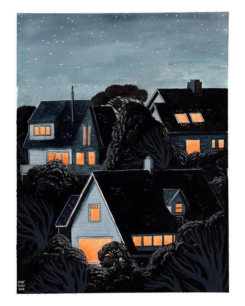 Matt Schumacher houses print