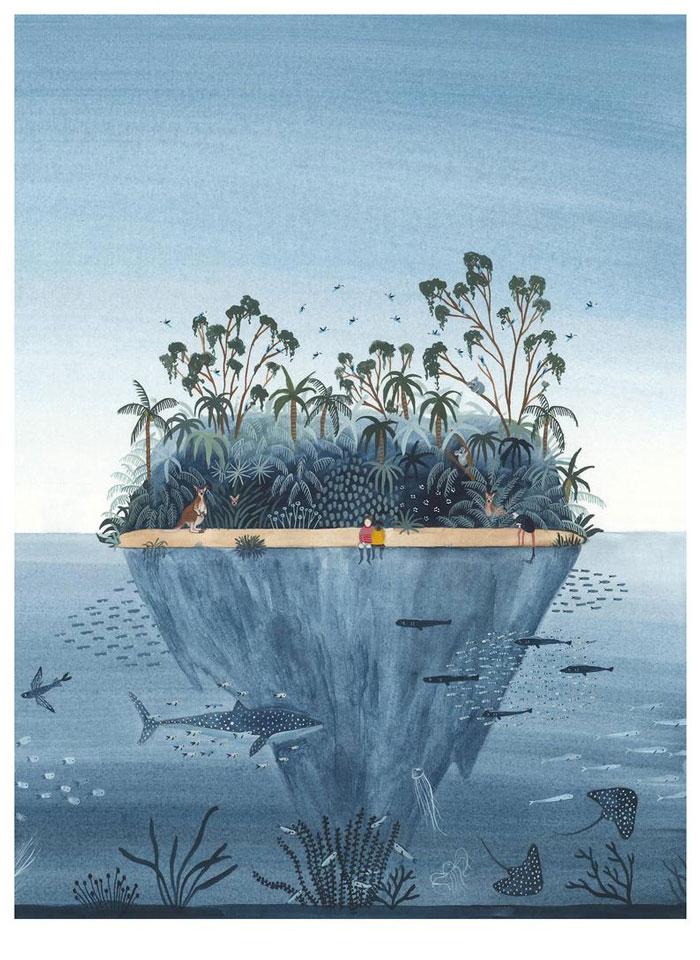 Miren Asiain Lora island illustration