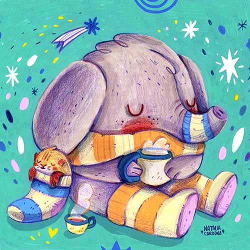Warm Socks and happy hearts by Natalia Cardona Puerta