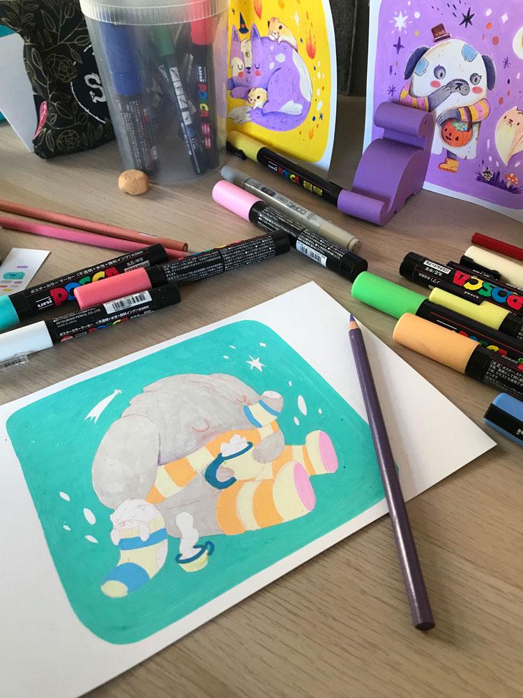 illustration process