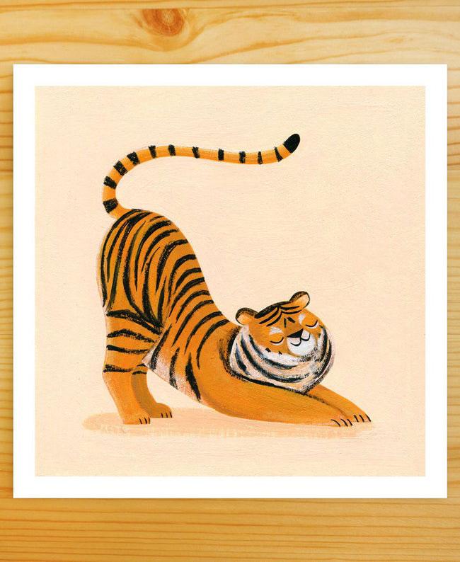 Nellie Le happy tiger print