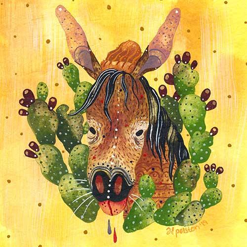 Mule Portrait by Alison Polston