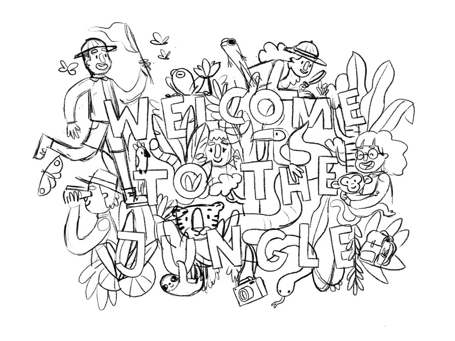 sketch Welcome to the jungle