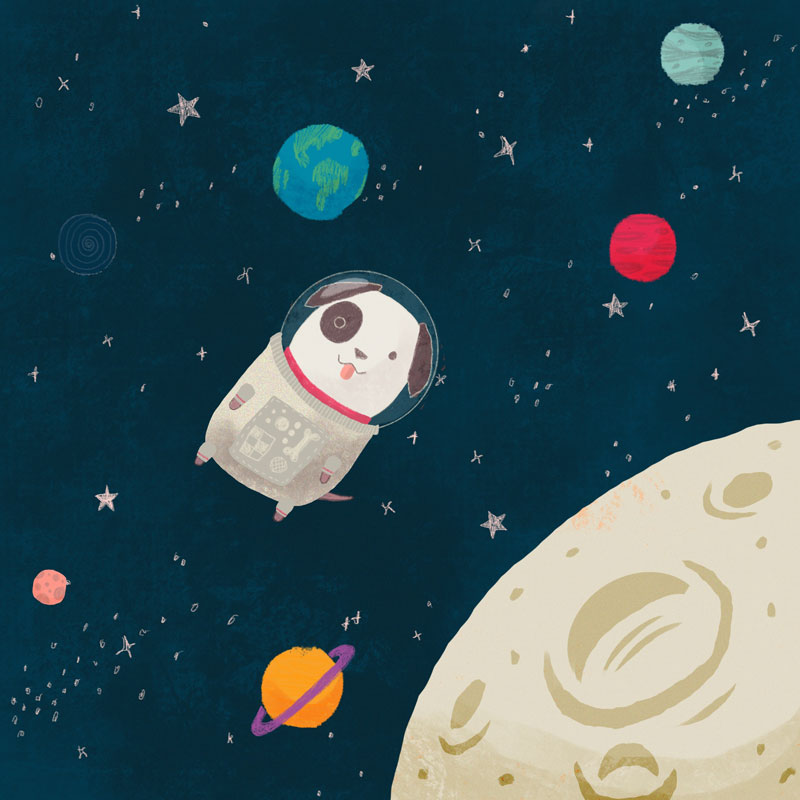 Becca Lettice space dog illustration