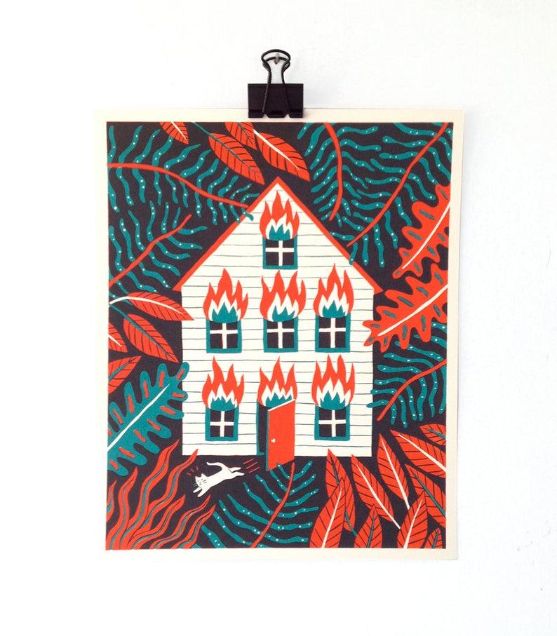 Fire house print