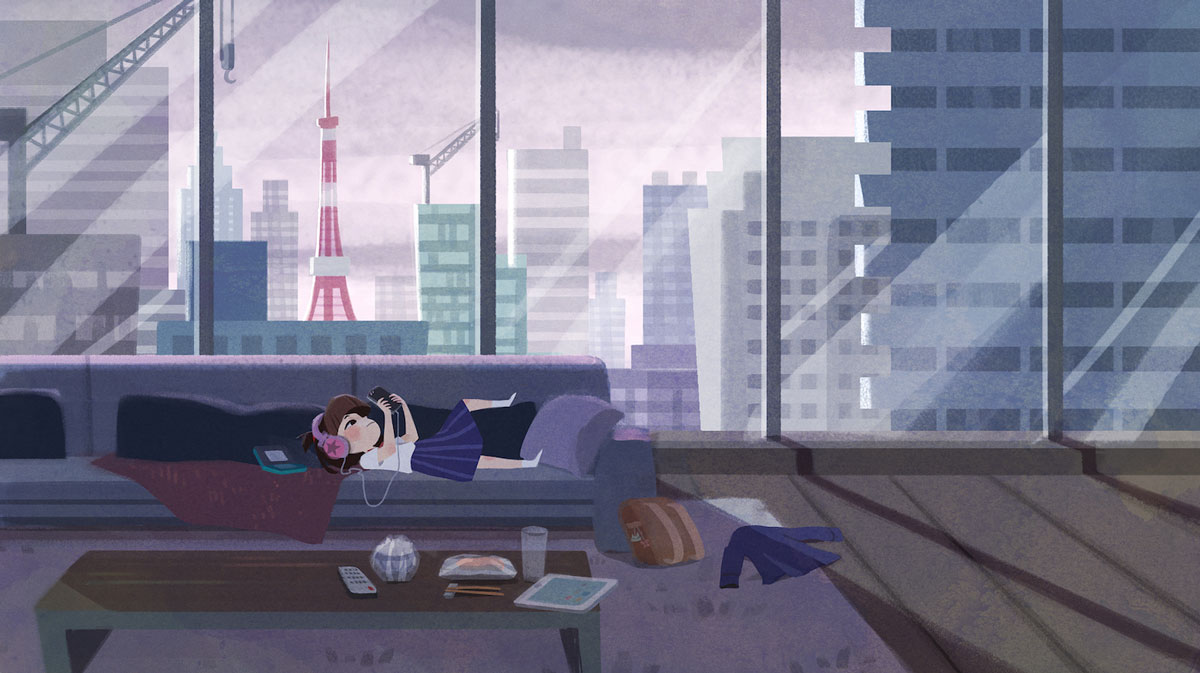 Nicole Lim skyscrape illustration