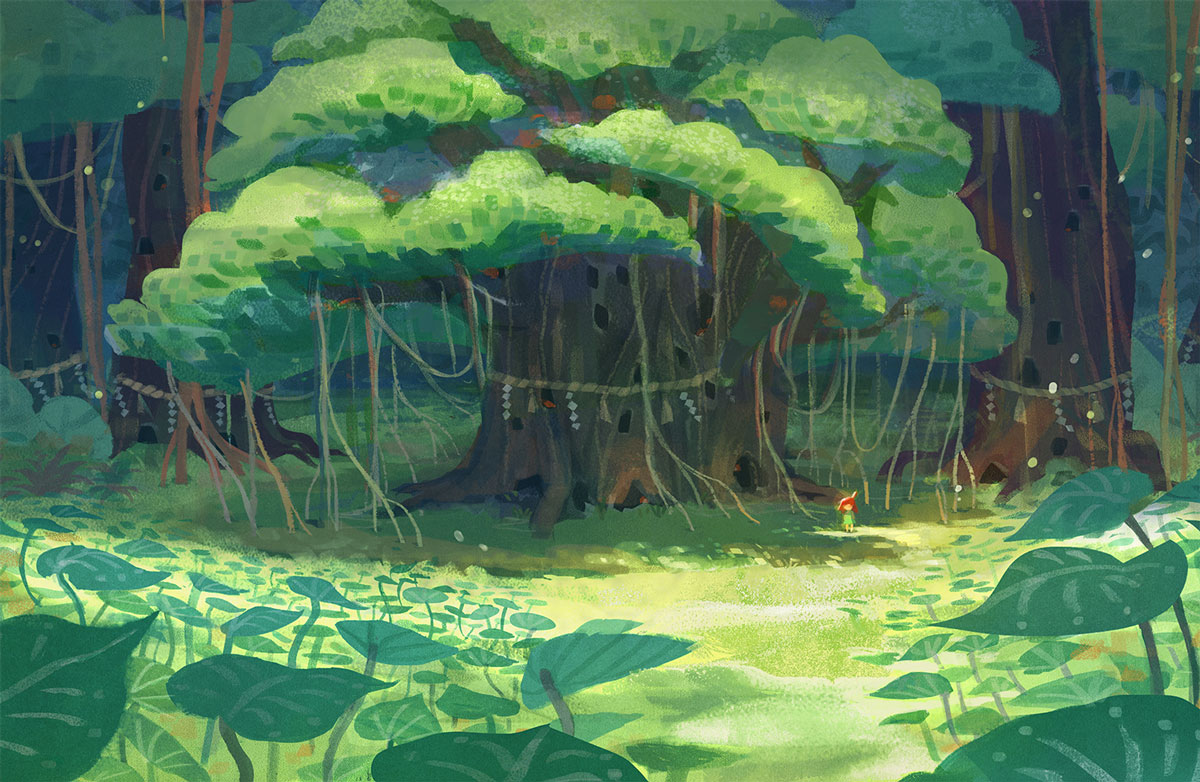 Nicole Lim forest drawing